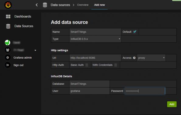 Grafana: Add Data Source