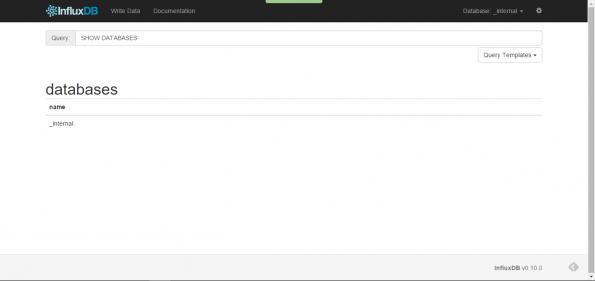 InfluxDB Web UI